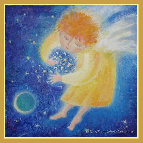 The angel collecting stars